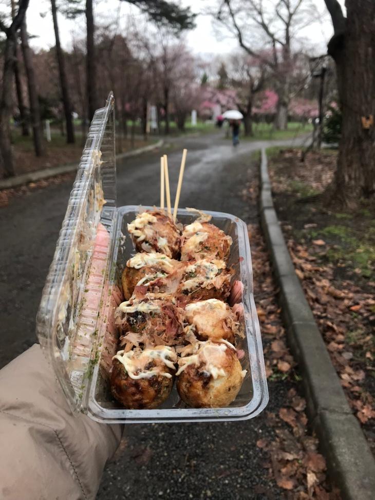 Takoyaki in Maruyama Park, Sapporo