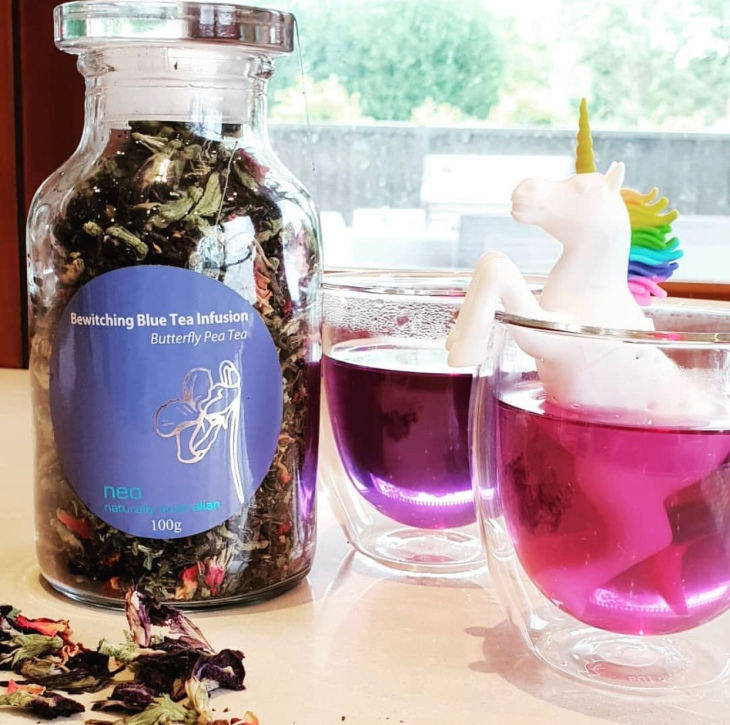 bewitching blue tea infusion